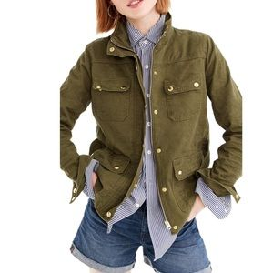 J Crew | Uncoated Petite Downtown Field Jacket